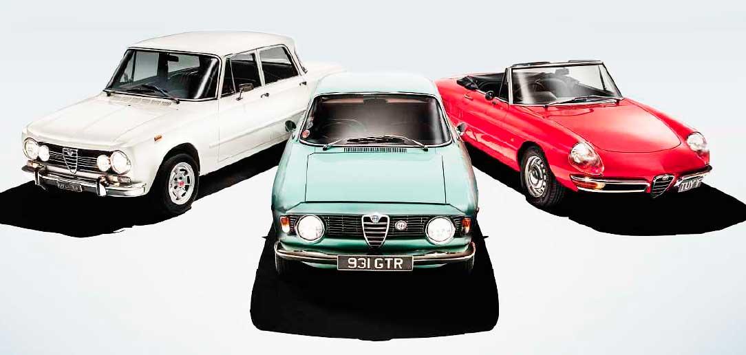 1964 Alfa Romeo Giulia Sprint GT 1600 vs. 1969 Alfa Romeo Giulia 1300 Berlina and Alfa Spider