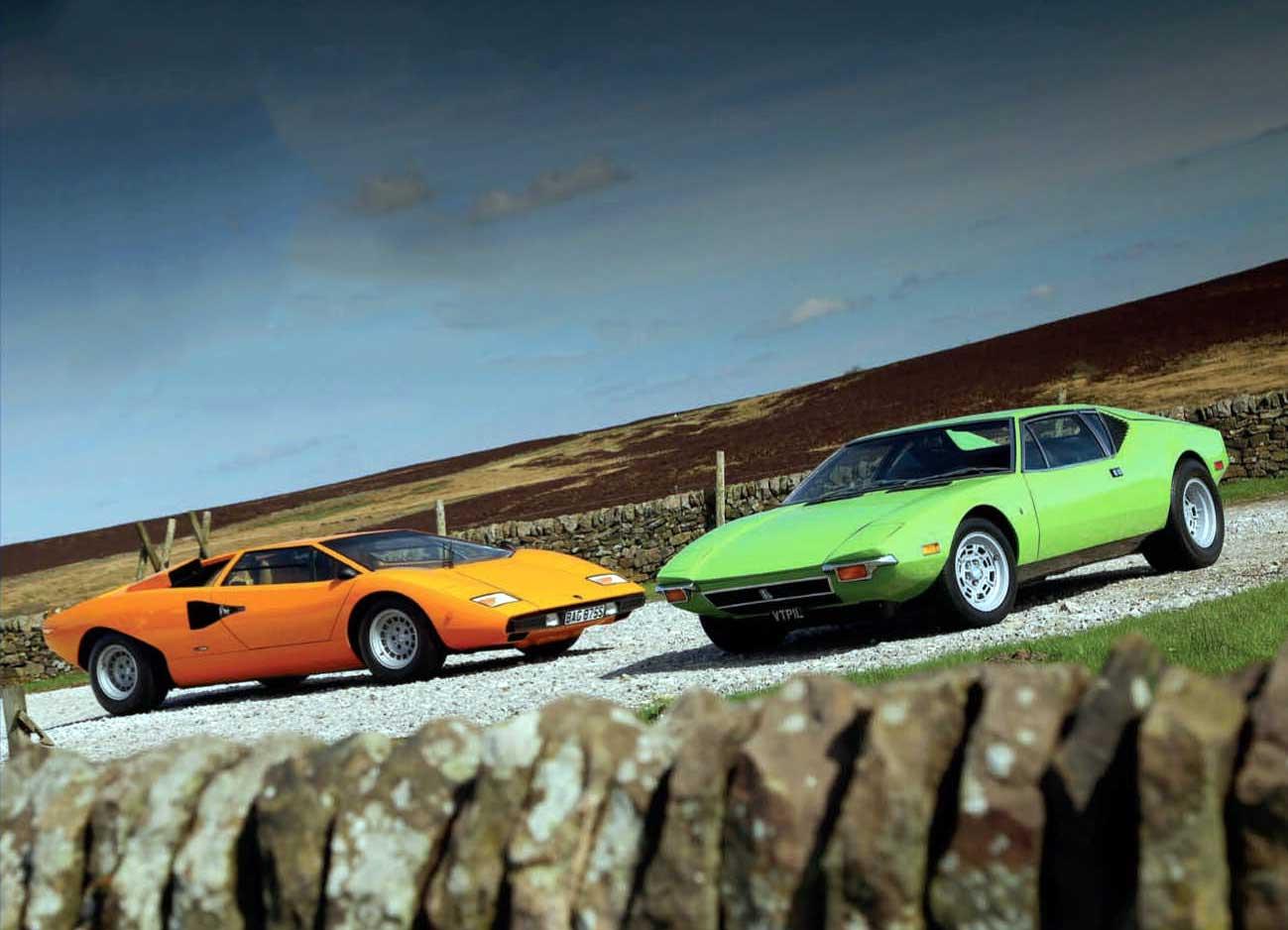 Lamborghini Countach LP400 vs. De Tomaso Pantera