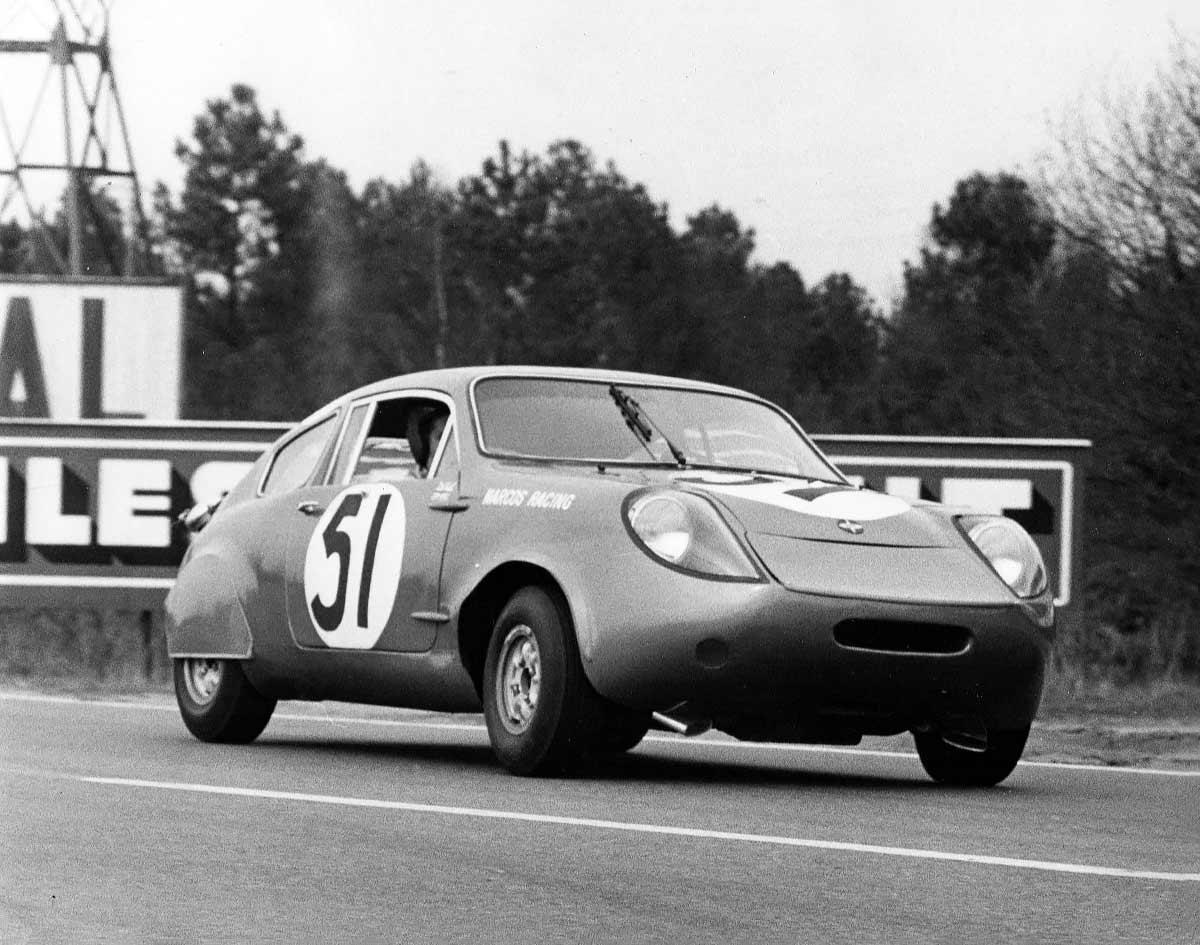 Mini Marcos Le Mans race