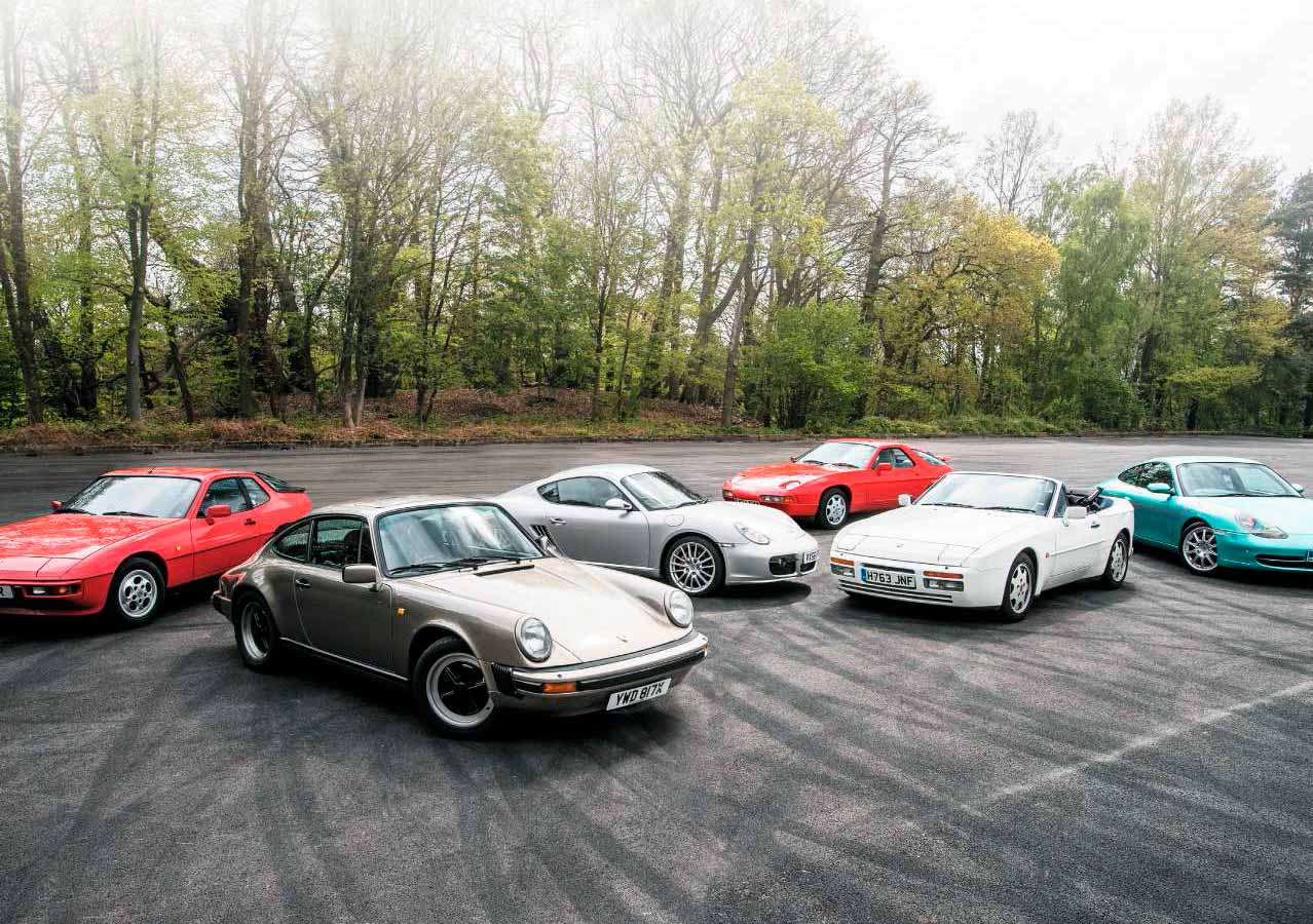 Test Drive  Porsches to buy now - 1982 911 SC G-Series, 1986 924S, 1988 928S4, 1990 944S2 Cabriolet, 1999 911 Carrera 2 996 and 2007 Cayman S 987