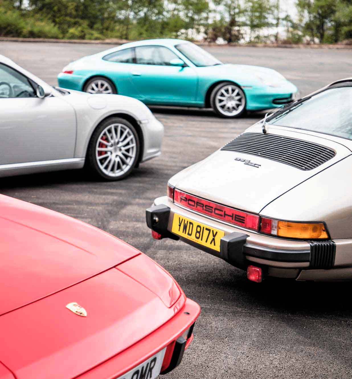 Porsches to buy now - 1982 911 SC G-Series, 1986 924S, 1988 928S4, 1990 944S2 Cabriolet, 1999 911 Carrera 2 996 and 2007 Cayman S 987