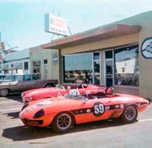 1967 The Graduate Alfa Romeo Duetto race car in California 1969