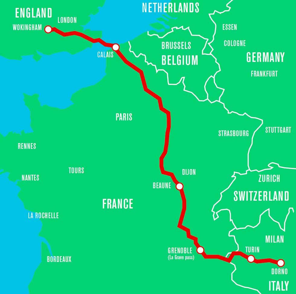 Map road trip