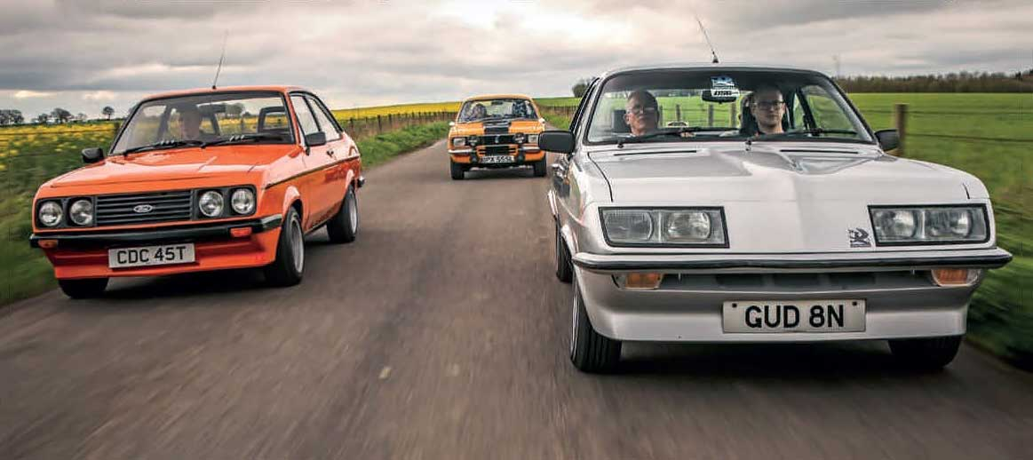 Hillman Avenger Tiger vs. Vauxhall HP Firenza and Ford Escort RS2000 Mk2