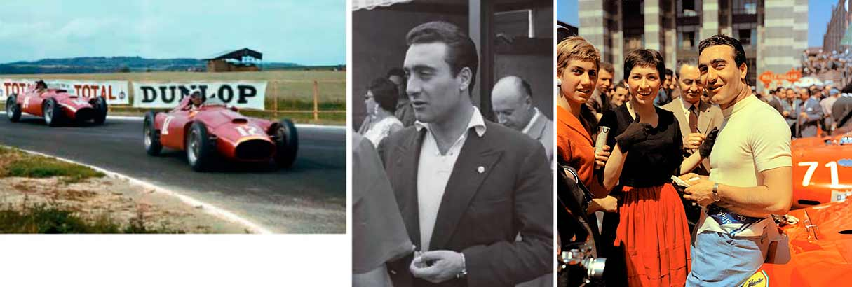 Collins beat Castellotti by just 0.3 secs at Reims in '1956