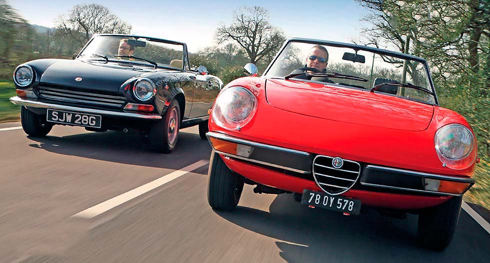 Alfa-Romeo Spider vs. Fiat 124 Sport Spider
