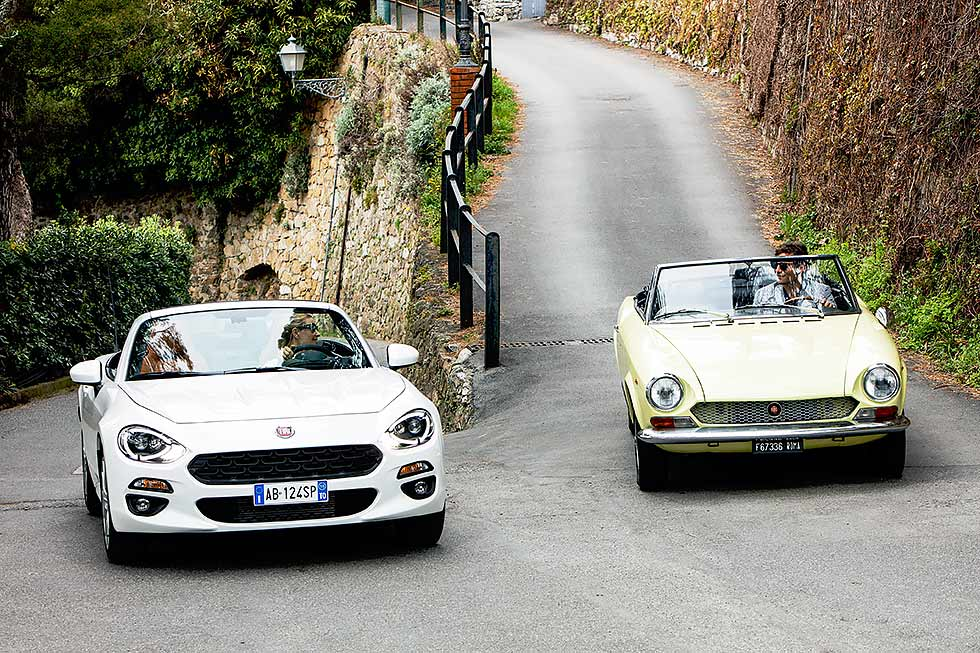 Fiat 124 new and old