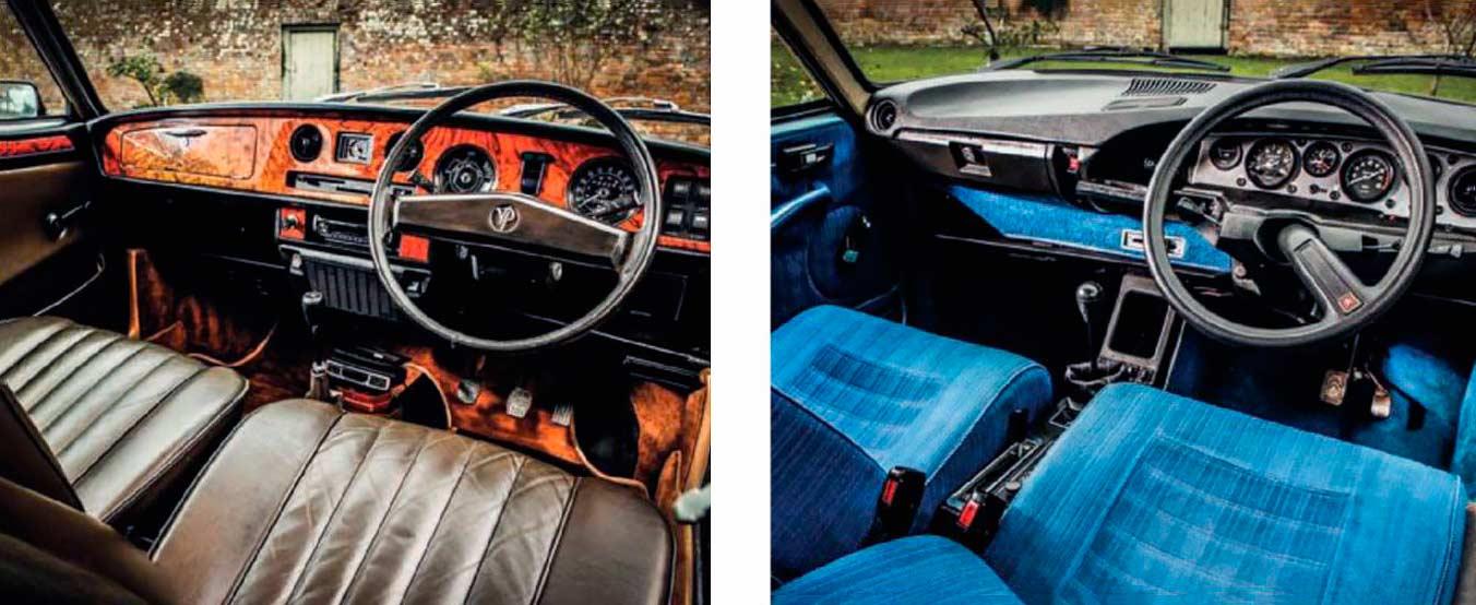 Citroën GS Pallas vs Vanden Plas 1.7 interior