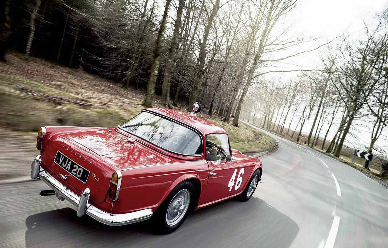 Triumph TR4 1962 Monte Carlo crasher driven