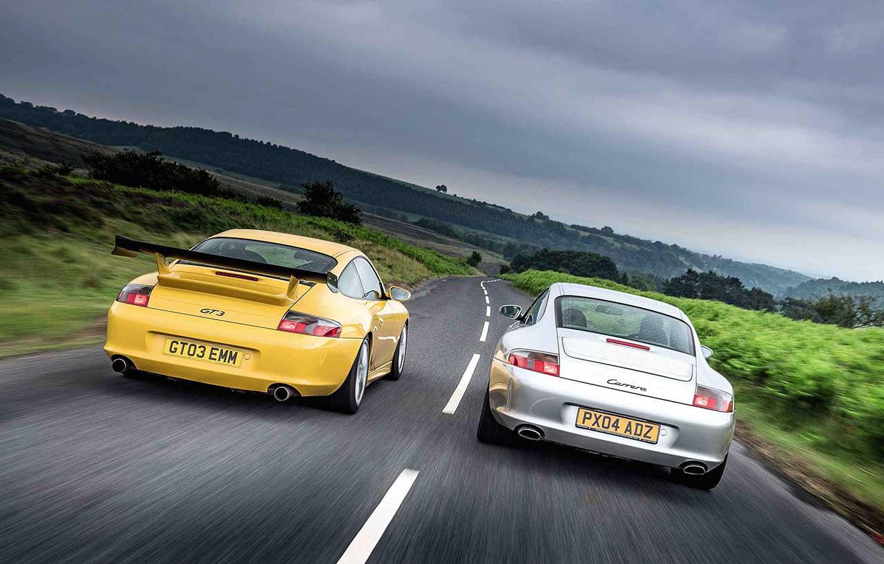 Porsche 911 Carrera 2 996 vs. Porsche 911 GT3 996