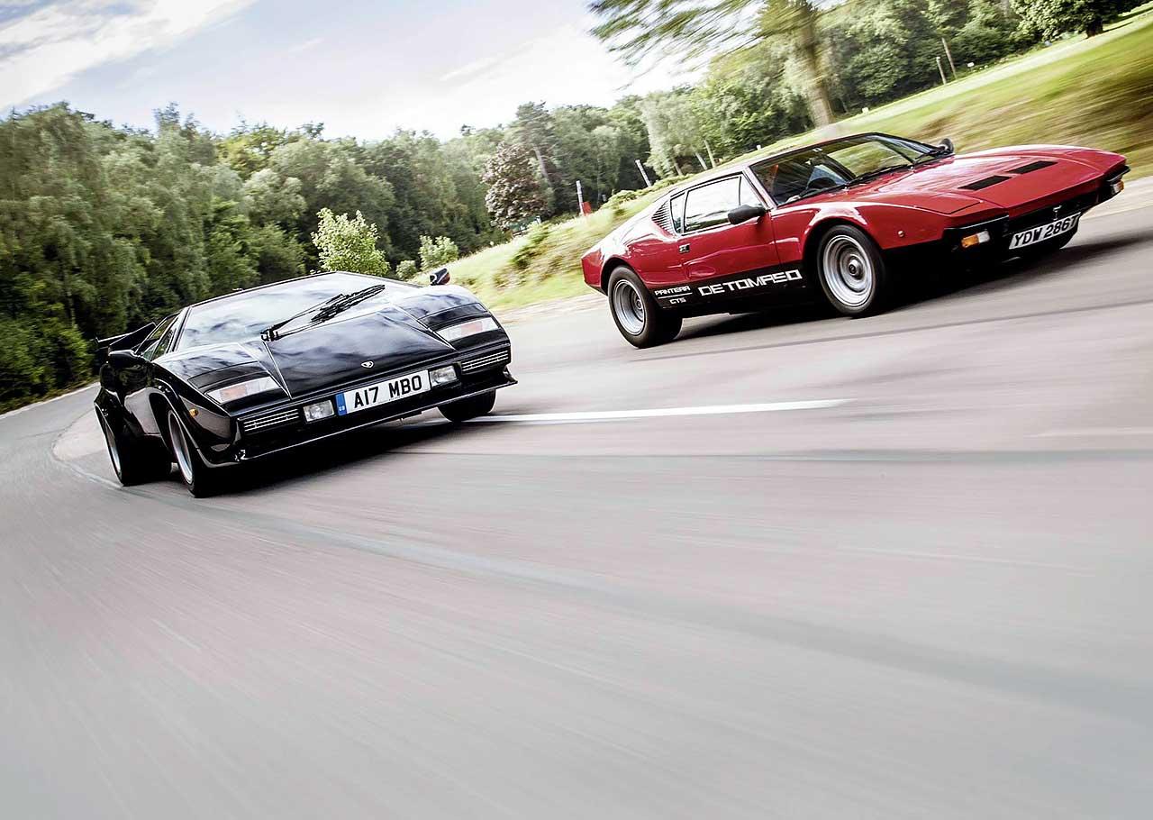 De Tomaso Pantera GTS vs. Lamborghini Countach 5000S