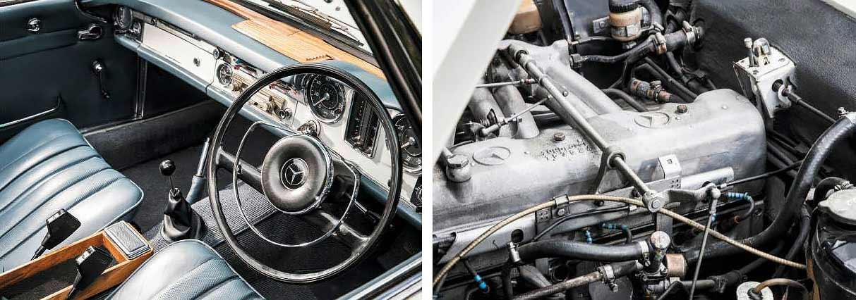 1965 Mercedes-Benz 230 SL W113 interior