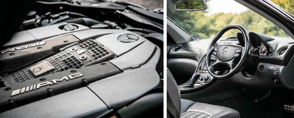 2003 Mercedes-Benz SL55 AMG interior and engine