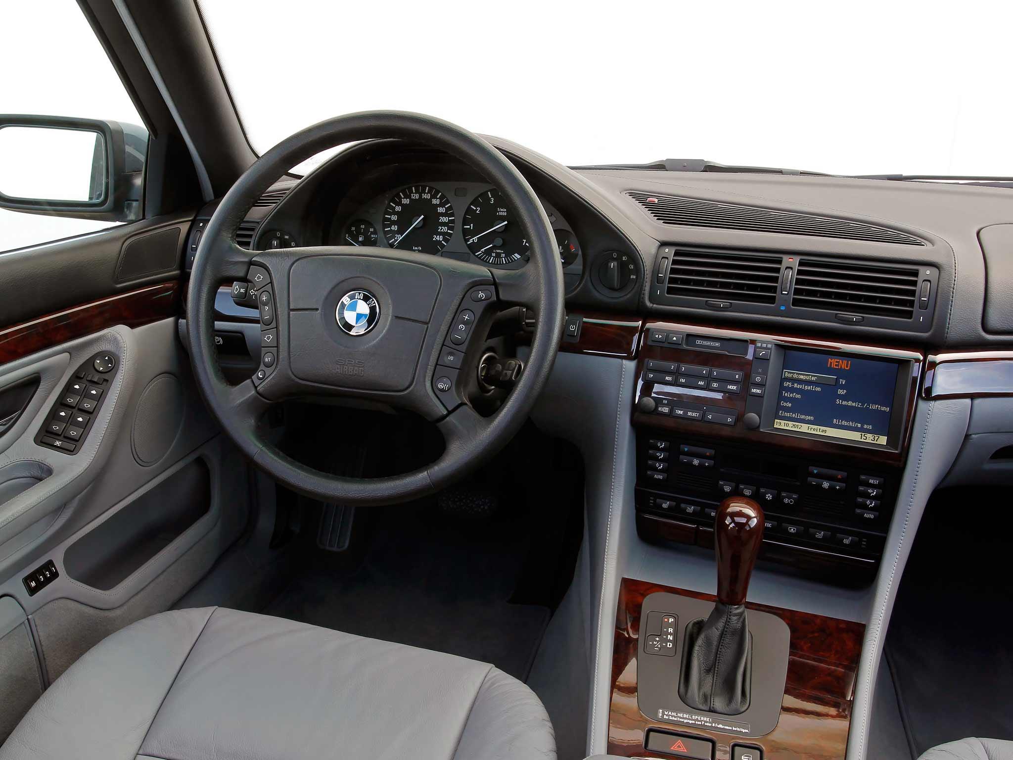 BMW 750iL E38 interior LHD