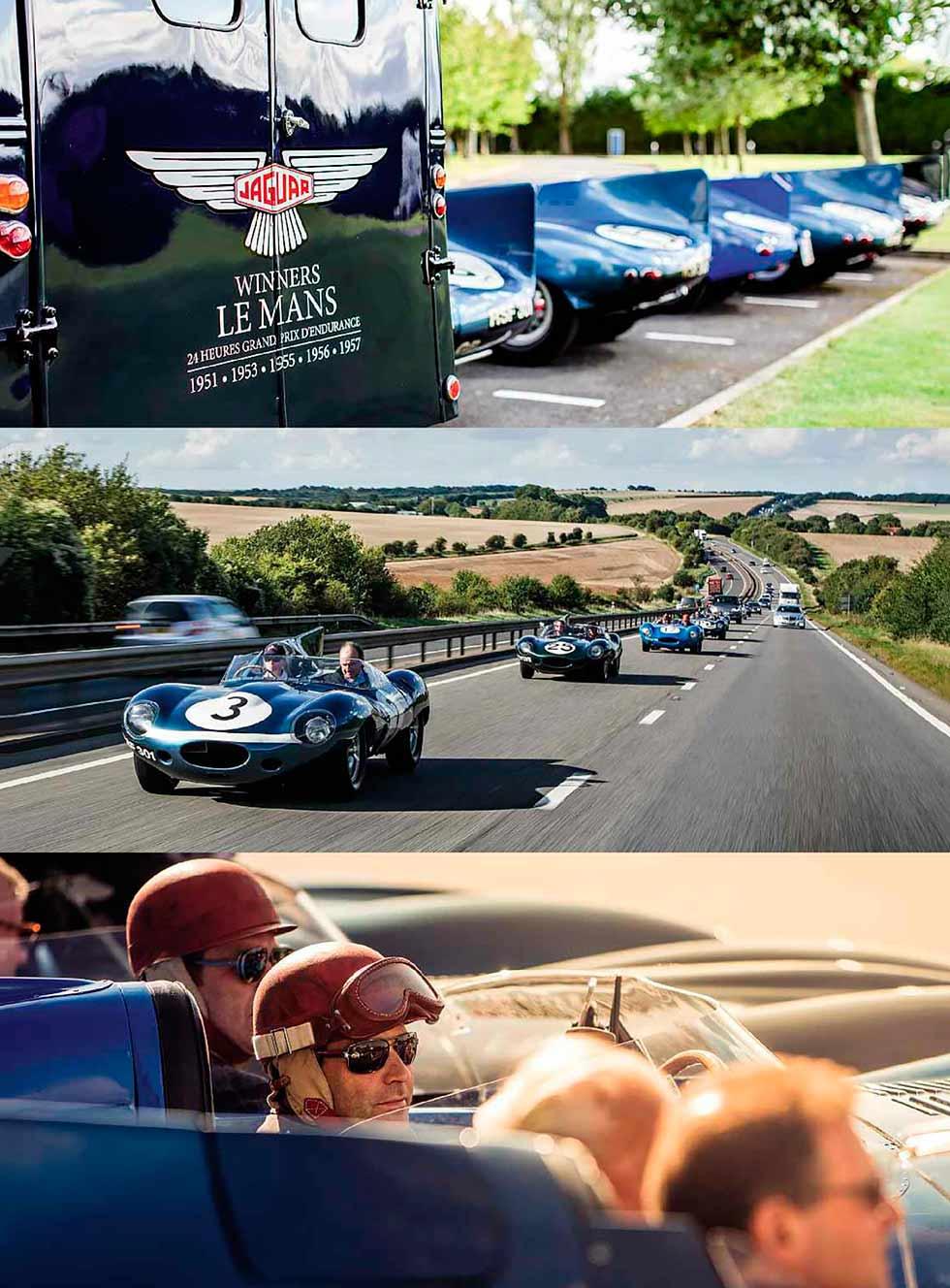 Le Mans 1957 Jaguar D-Types road and track test