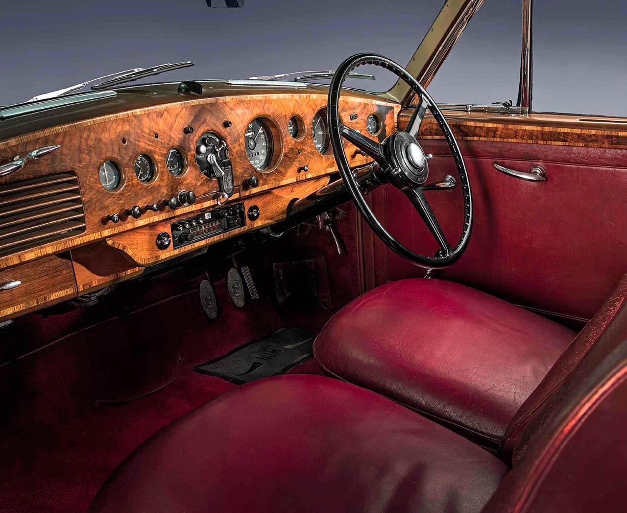 1953 Bentley R Type Continental Fastback interior