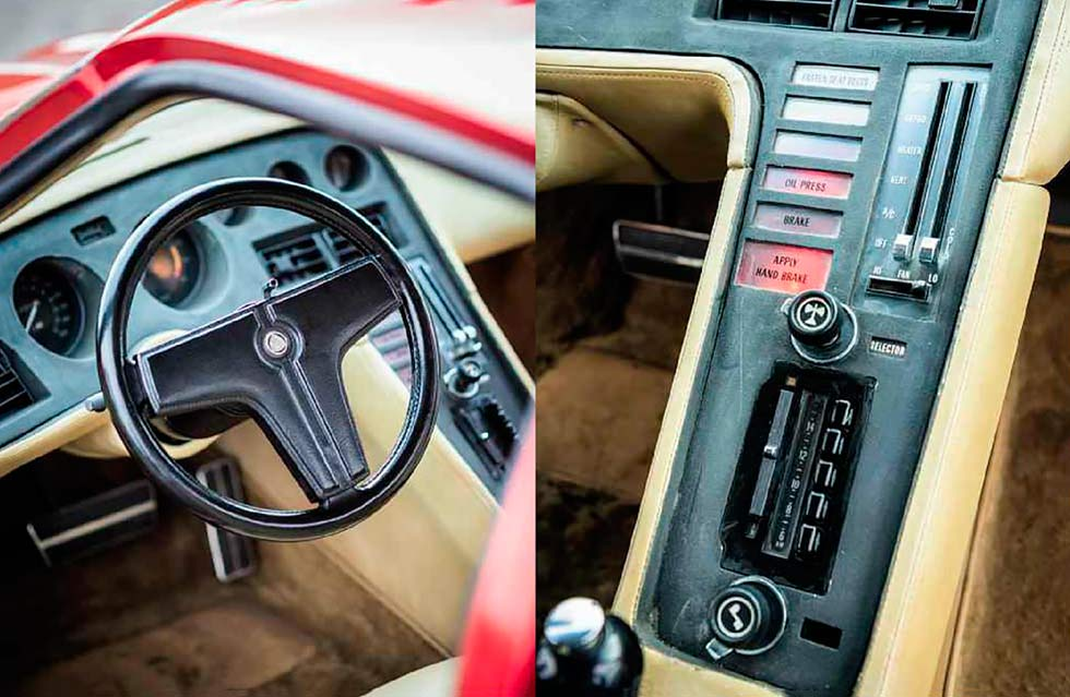 1973 Chevrolet Corvette XP 897 GT Two Rotor Concept interior