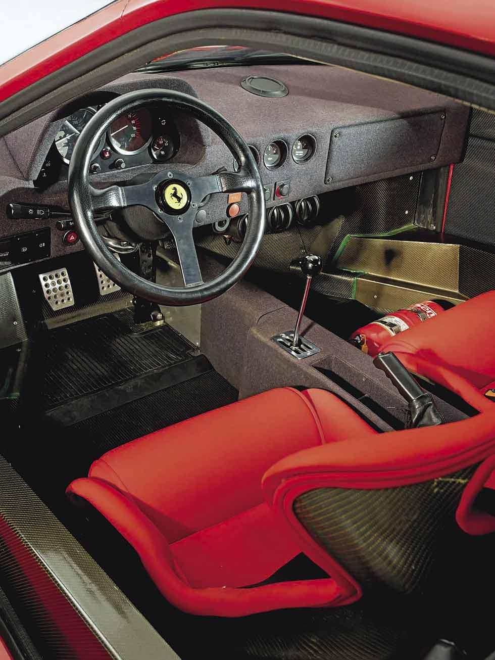 1987 Ferrari F40 interior