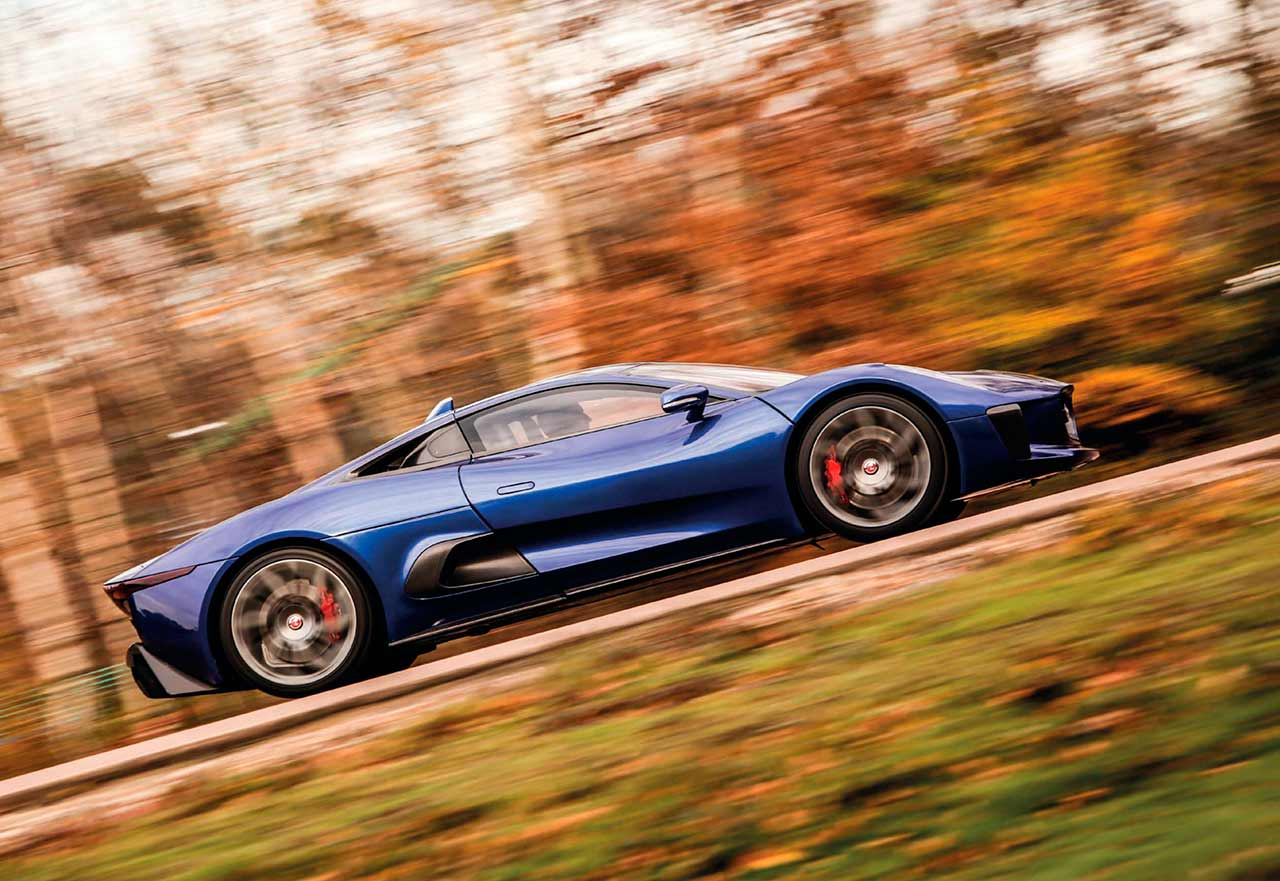 Driving the 007 Jaguar C-X75 on track