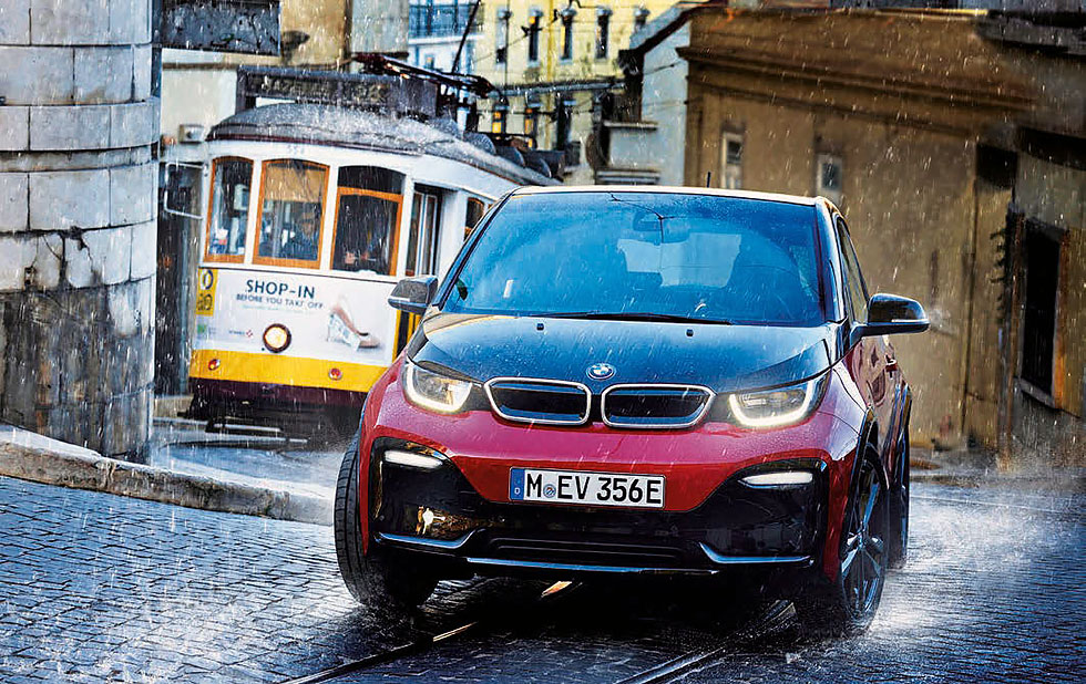 Fast-response traction control system will enhance bad weather vehicle control in the BMW i3
