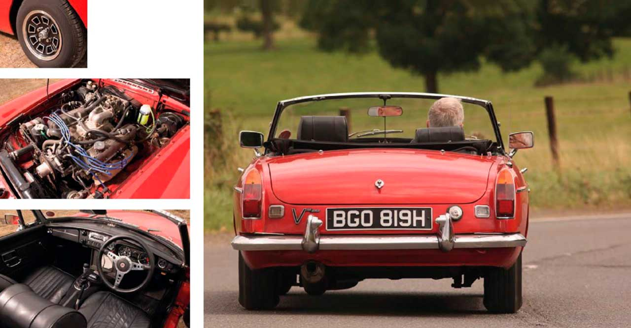 MGB Rover V8 driven