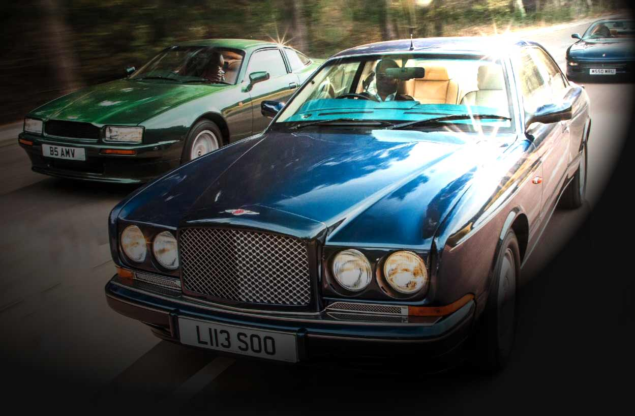 1990 Aston Martin Virage vs. 1993 Bentley Continental R and 1993 Ferrari 456GT