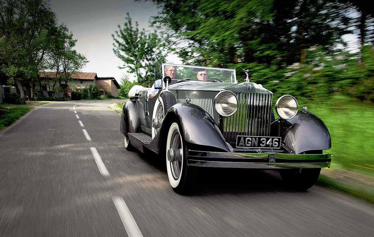 A prototype chassis 25 EX 1930 Rolls-Royce Phantom II with a phenomenal body