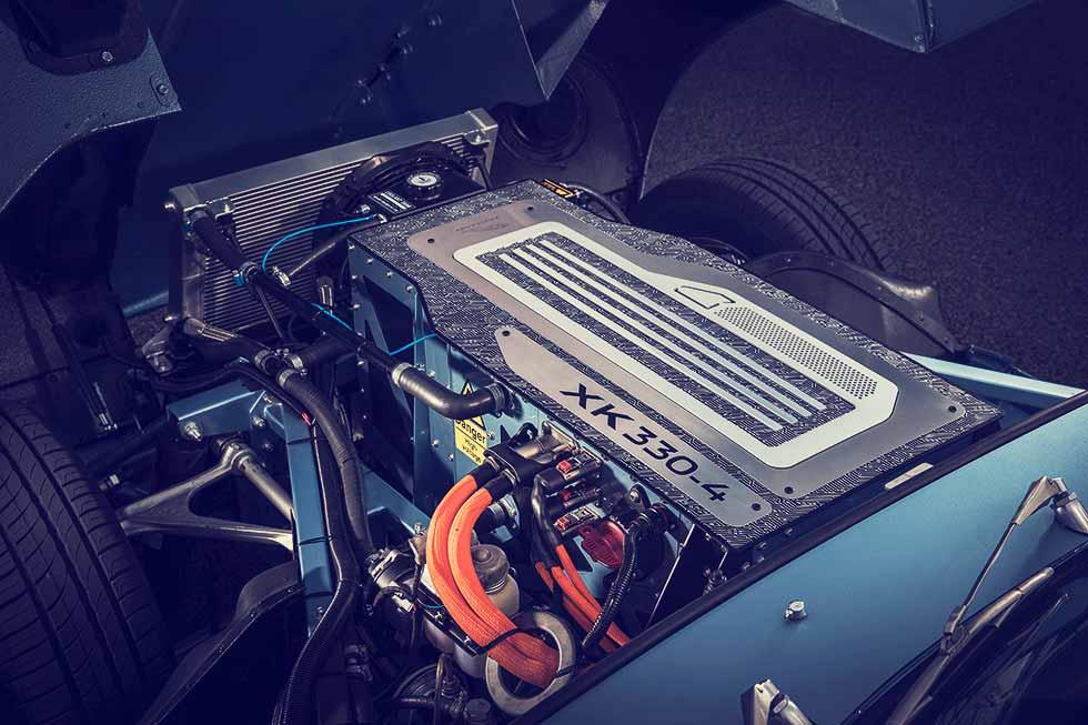 2018 Jaguar E-Type Zero electric engine