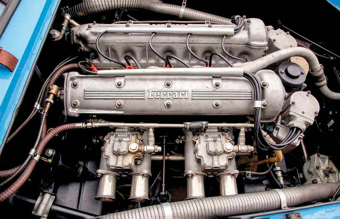 1954 Ferrari 500 Mondial Berlinetta engine