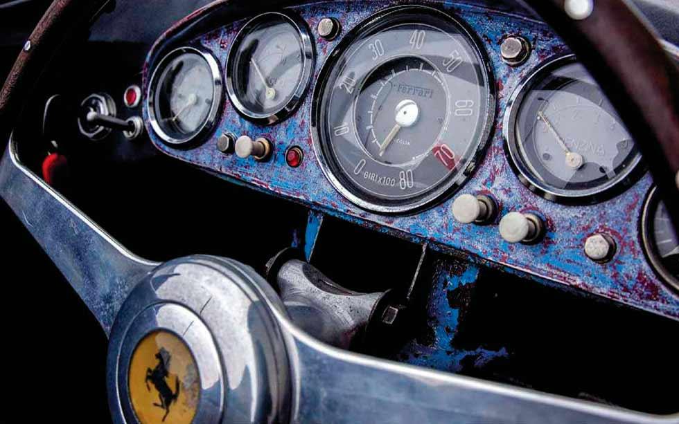 1955 Ferrari 500 Mondial Spider dashboard