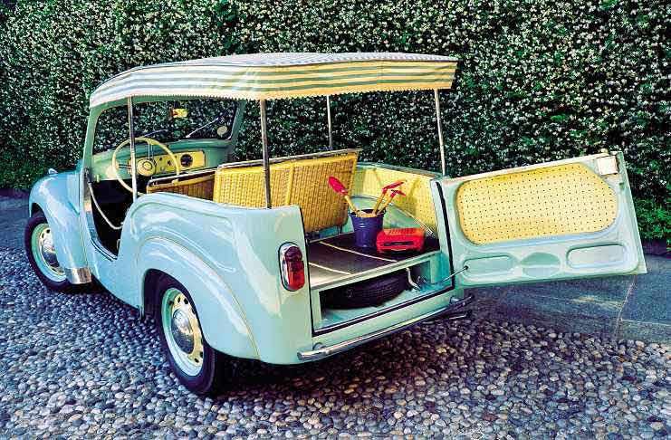 1954 Fiat 500C Belvedere Spiaggina interior