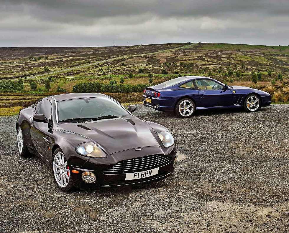 2002 Ferrari 575m Vs 2006 Aston Martin Vanquish S Drive