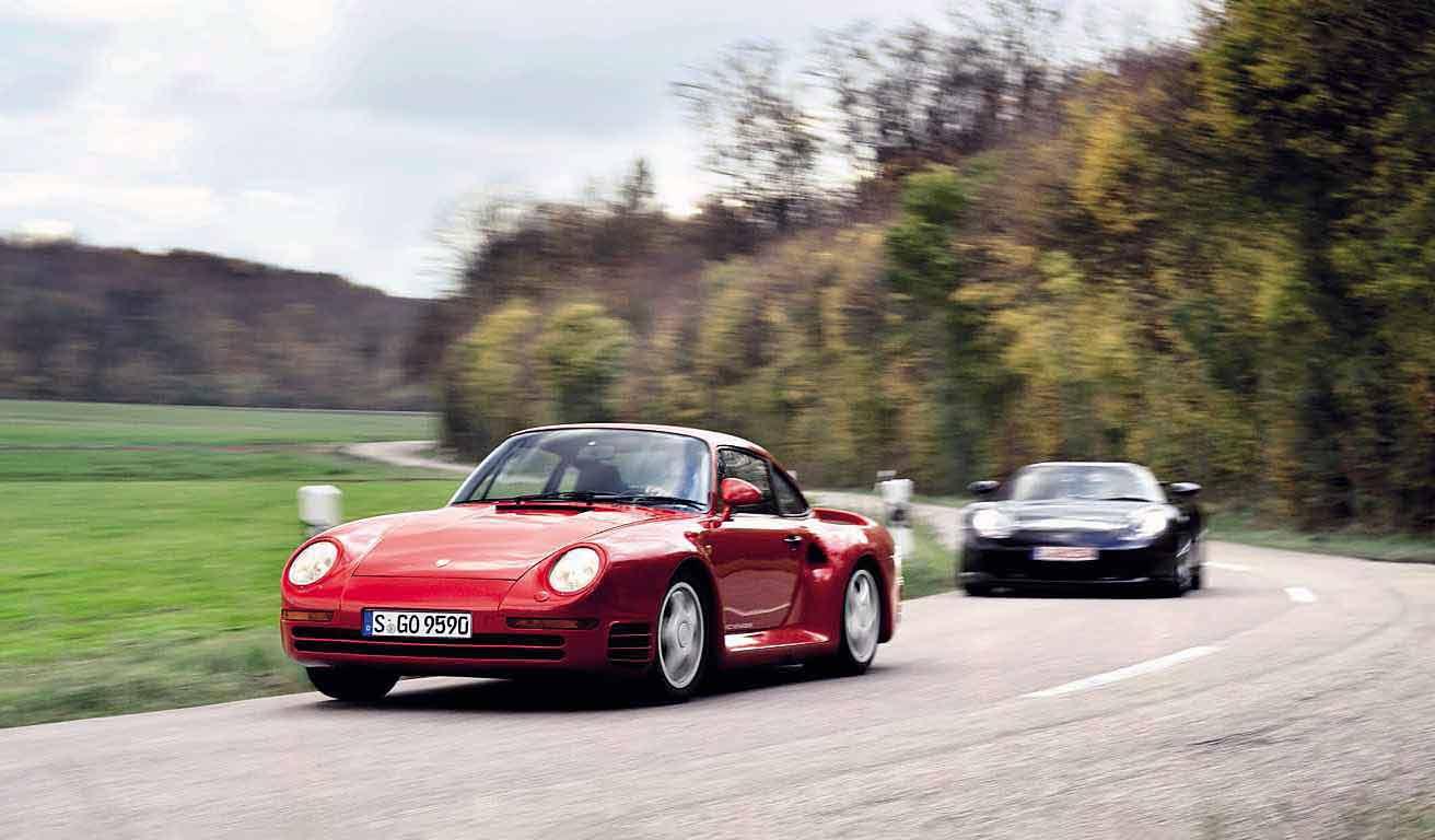 1987 Porsche 959 Sport vs. 2004 Porsche Carrera GT