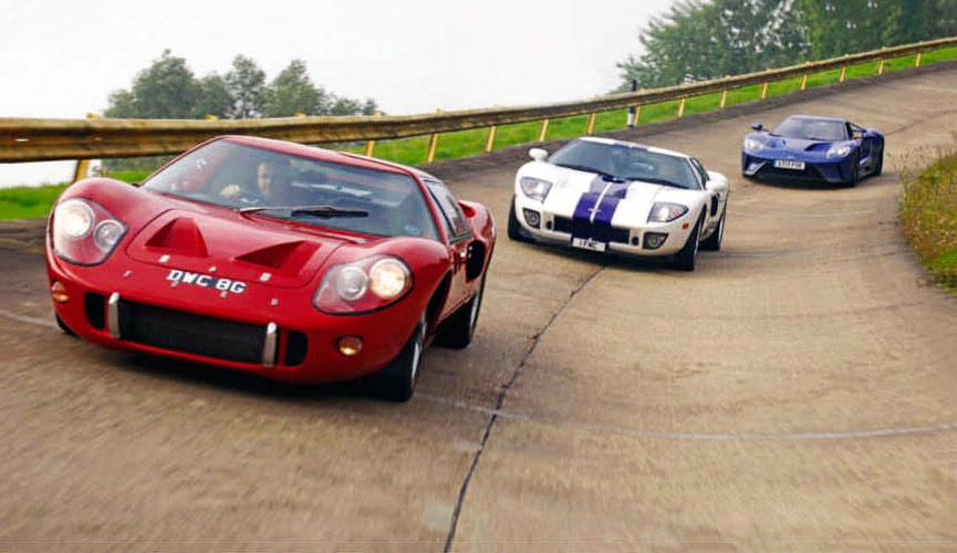 1967 Ford GT40 MkIII, 2004 GT and all new 2018 GT