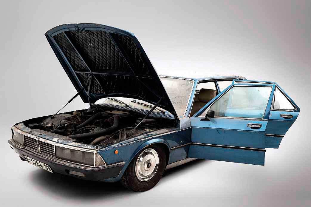 Barn find 1974 Maserati Quattroporte II prototype