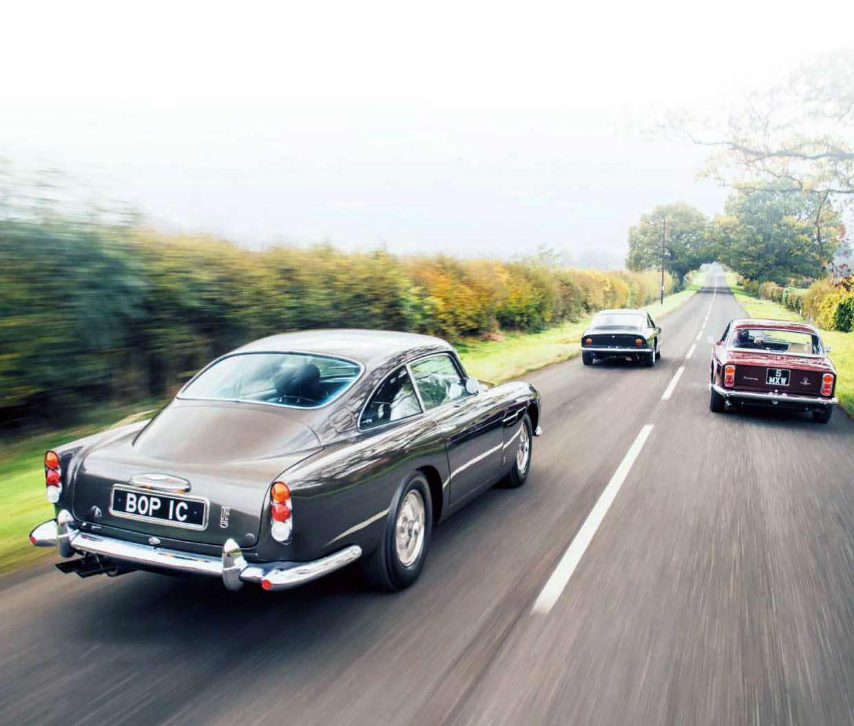 1963 Maserati Sebring 3500 GTI vs. 1964 Aston Martin DB5 and 1963 Ferrari 250 GT Lusso