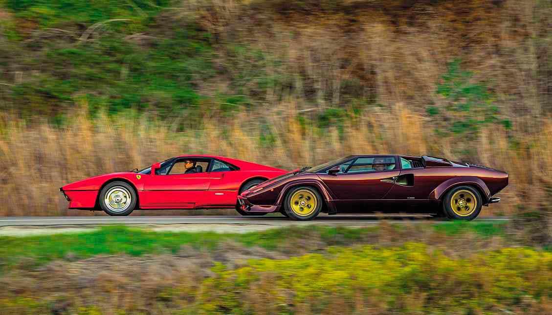 1984 Ferrari 288 GTO vs. 1986 Lamborghini Countach LP5000 QV