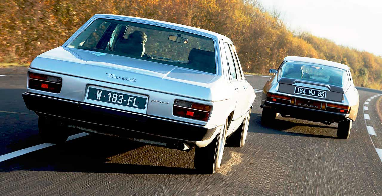 Maserati Quattroporte II vs Citroen SM 1970s barge meets its French relative