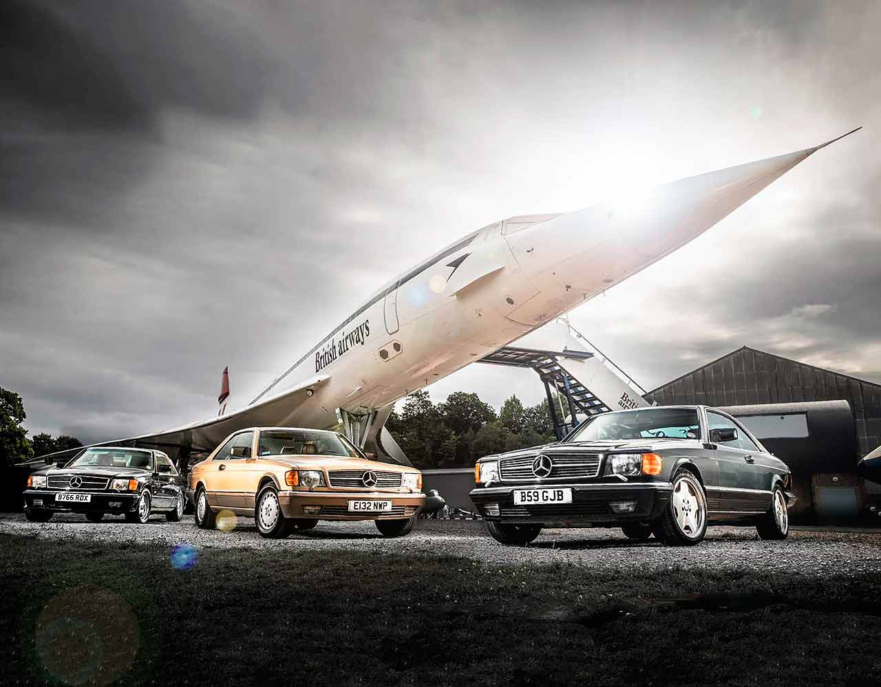1982 Mercedes-Benz 500SEC C126 and 1986 560SEC - reliving Eighties F1 with the ex-Senna, Manseil and Rosberg cars