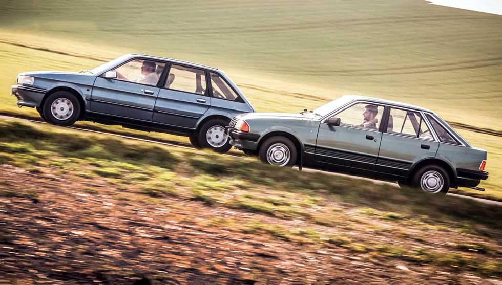 Ford Escort 1.3 Ghia Mk3 vs Austin Maestro Vanden Plas