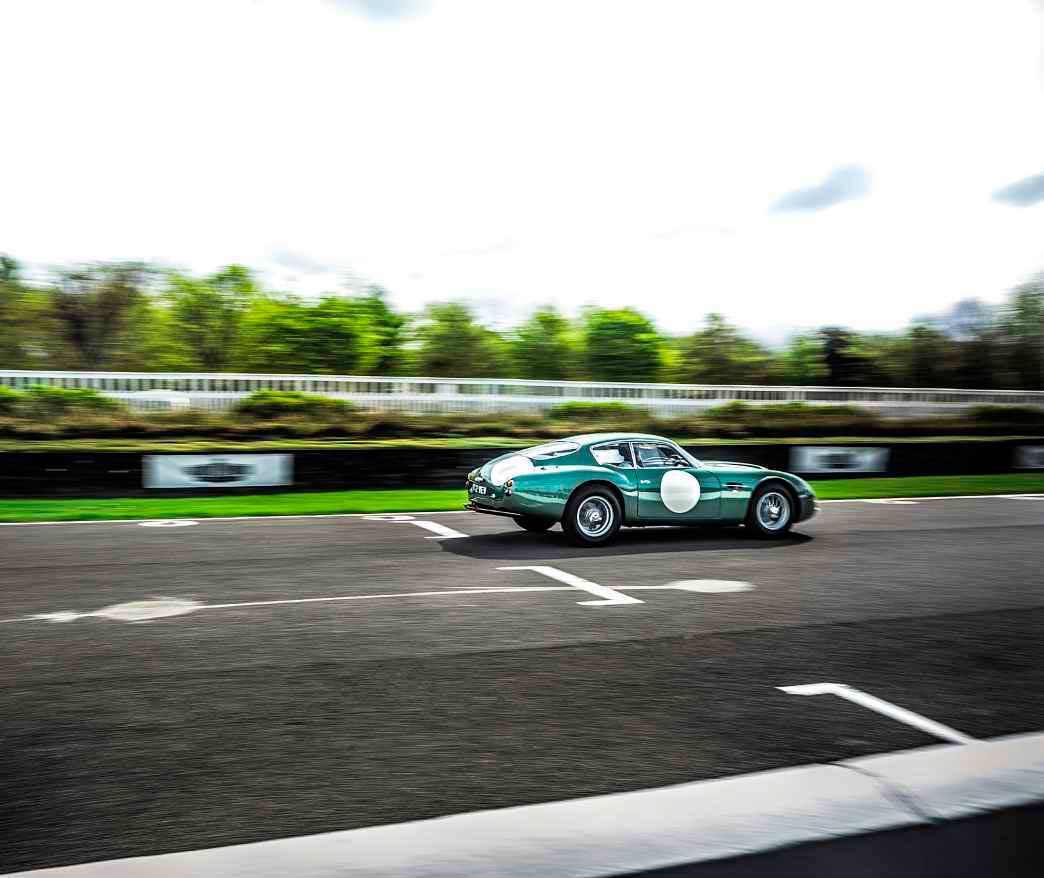 1961 Aston Martin DB4 GT Zagato MP209 on track in heroic 2 VEV