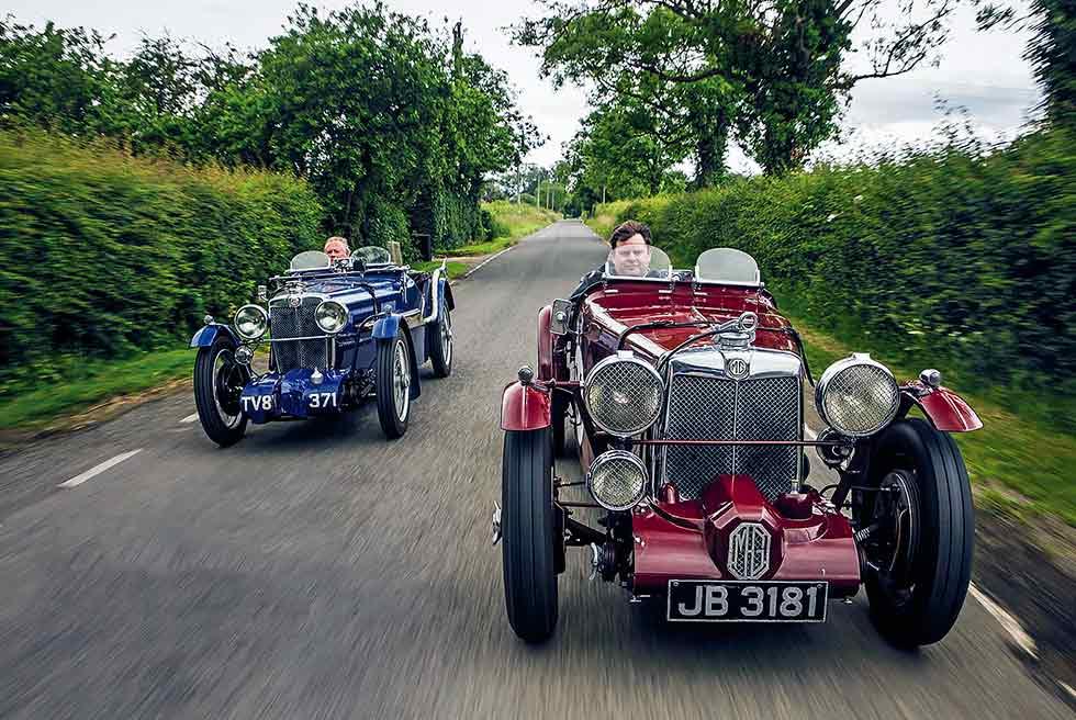 1933 MG K3 Magnette and 1933 MG J4 Midget - road test