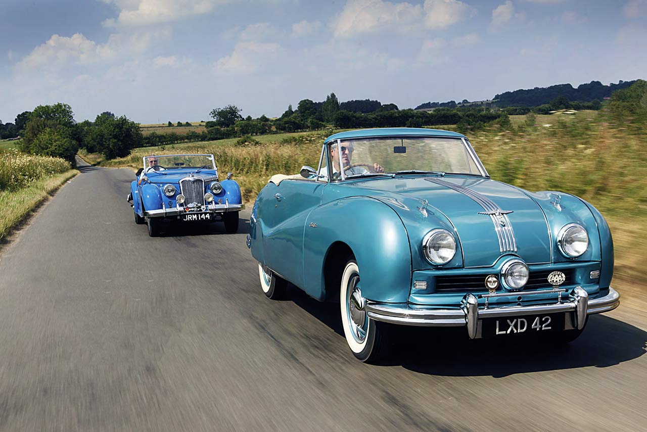 1949 Austin's A90 Atlantic and 1948 Riley's RMC 2 ½ -litre Roadster