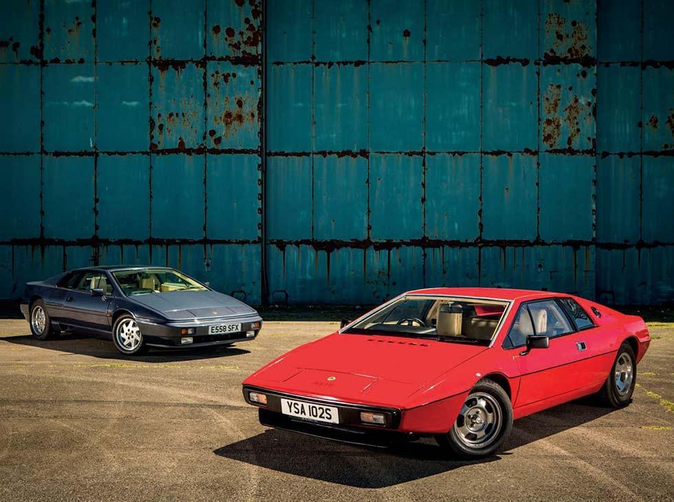 1976 Lotus Esprit 2.2 S1 vs. 1987 Esprit SE