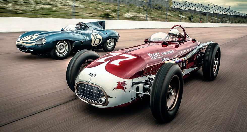 Jaguar D-type vs Kurtis