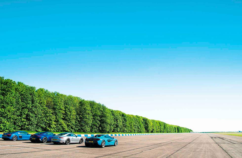 All new 2019 Aston Martin Vantage vs. 2019 Porsche 911 Carrera 4 GTS 991.2, 2019 Audi R8 V10 Plus and 2019 McLaren 540C