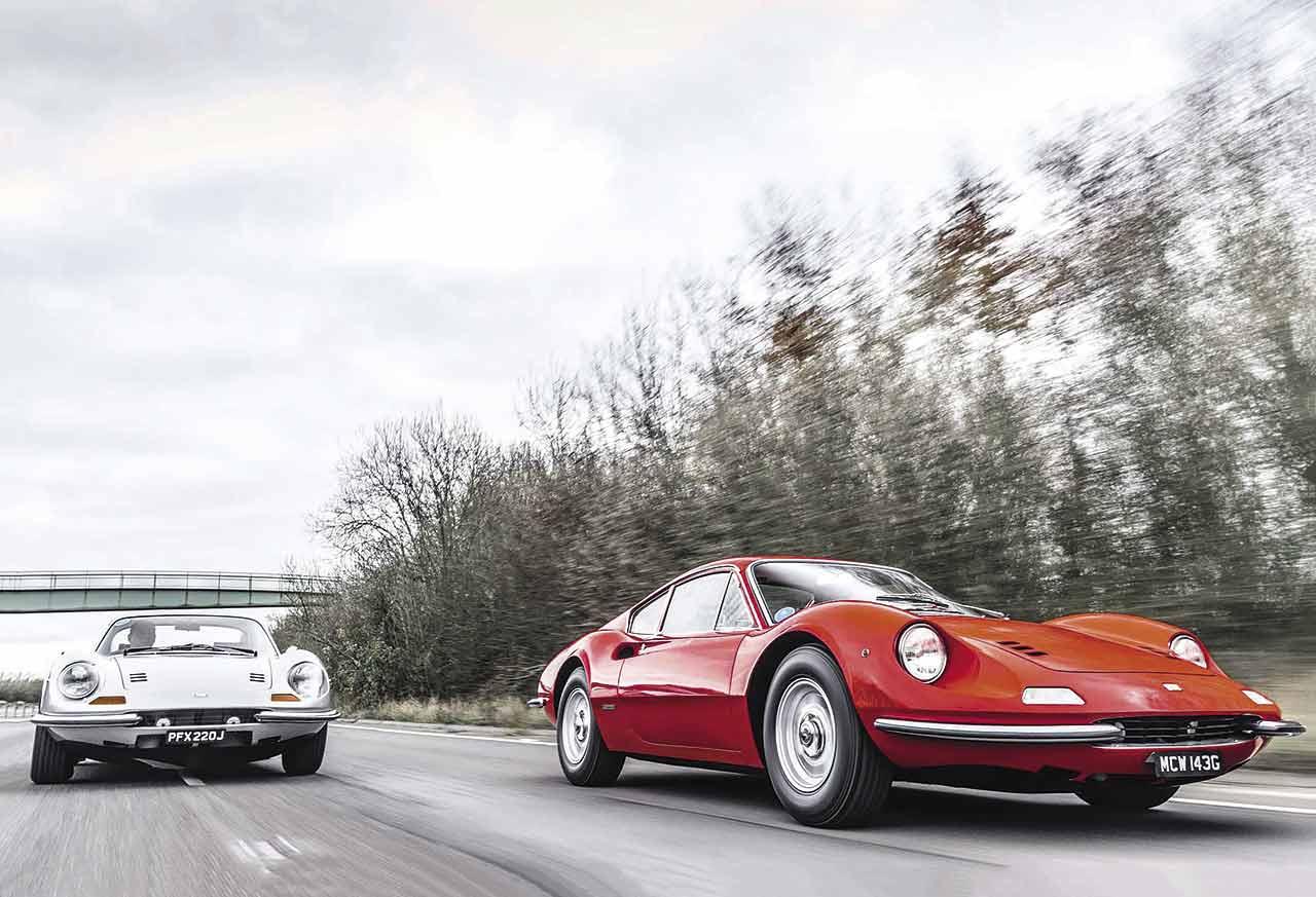 We compare original 1968 Ferrari Dino 206 GT with classic 1970 Dino 246 GT