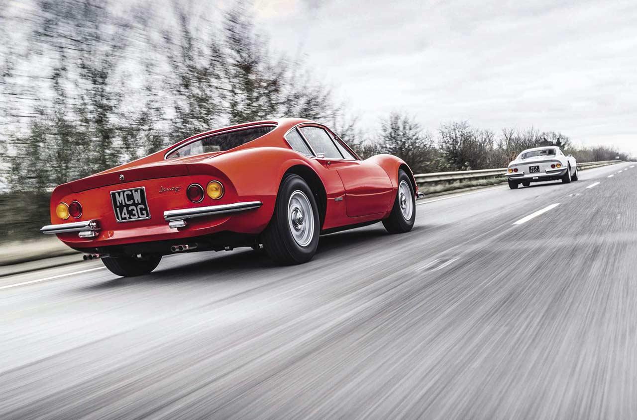 1968 Ferrari Dino 206 GT vs. 1970 Dino 246 GT