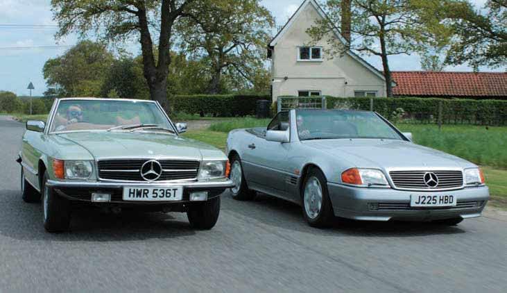 1979 Mercedes-Benz 350SL R107 vs. 1991 Mercedes-Benz 300SL R129 - comparison road test