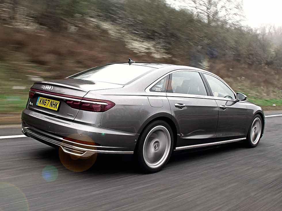 2019 Audi A8L 50 TDI 286bhp 3.0 V6 TDI quattro 8-speed tiptronic D5 4N-type UK-version road test